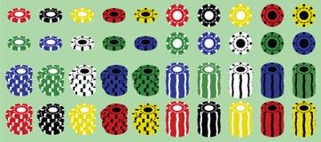 Ensemble de puces de casino Images stock