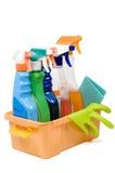 Ensemble de pulvérisateurs pour le nettoyage. Images libres de droits