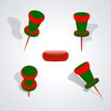 Ensemble de punaises, illustration Image stock