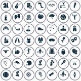 Ensemble de quarante-neuf icônes de sport illustration de vecteur