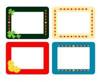 Ensemble de quatre cadres plats décoratifs illustration stock