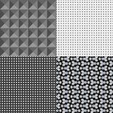 Ensemble de quatre modèles géométriques Photographie stock libre de droits