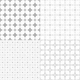 Ensemble de quatre modèles géométriques sans couture Photos stock