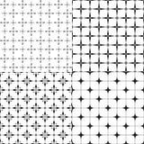 Ensemble de quatre modèles géométriques sans couture Image stock