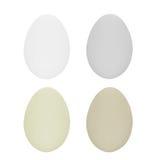 Ensemble de quatre oeufs de pâques d'isolement sur le fond blanc pour la conception Photos libres de droits