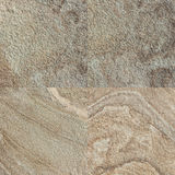 Ensemble de quatre textures en pierre Images stock