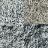 Ensemble de quatre textures en pierre Photo libre de droits
