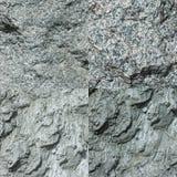Ensemble de quatre textures en pierre grises Images libres de droits