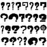 Ensemble de questions de pixel de couleur noire Images libres de droits