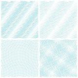 Ensemble de résumé de modèle sans couture onduleux, fond de vecteur Texture de vague de mode Descripteur géométrique Style graphi Photos stock