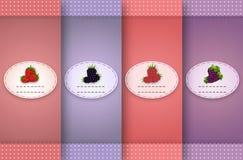 Ensemble de rétro étiquettes Images stock