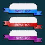 Ensemble de rétro bandes et étiquettes Image stock