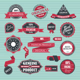Ensemble de rétro label Image stock