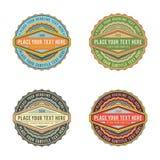 Ensemble de rétro label de bannière de logo de style de vintage Image libre de droits
