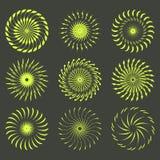 Ensemble de rétros formes d'éclat de Sun Logo de vintage, labels, insignes Élément de conception de vecteur d'isolement Éclat noi photos libres de droits