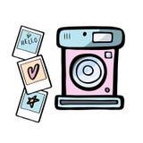 Ensemble de rétros illustrutions d'appareils-photo d'une photo Icônes d'appareils-photo de photo de vintage Photo libre de droits
