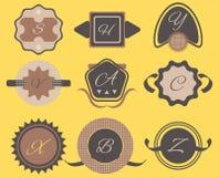 Ensemble de rétros insignes, de rubans et de labels de vintage de hippie illustration de vecteur