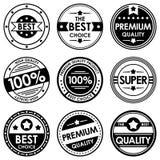 Ensemble de rétros insignes et de labels de vintage Photo libre de droits