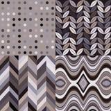 Ensemble de rétros milieux onduleux abstraits sans couture de vecteur Images stock
