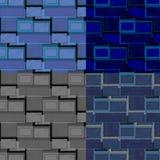 Ensemble de rétros modèles carrés de forme images stock