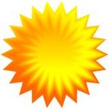 Ensemble de rayon de soleil géométrique orange, fond de starburst Photo libre de droits