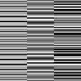 Ensemble de rayures horizontales blanches noires sans couture Illustration Stock