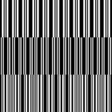 Ensemble de rayures verticales blanches noires sans couture Illustration Libre de Droits