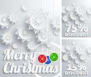 Ensemble de remise de fond de Joyeux Noël Images stock