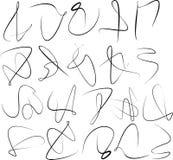 Ensemble de remous abstrait de calligraphie Photos stock