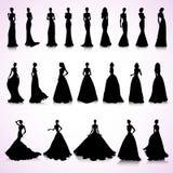 Ensemble de robes de mariage illustration stock