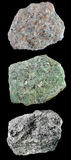 Ensemble de roches et de minerais â9 Images libres de droits
