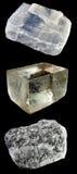 Ensemble de roches et de minerais â7 Photographie stock