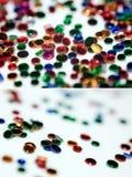 Ensemble de ronds de plastique de couleur. Image stock
