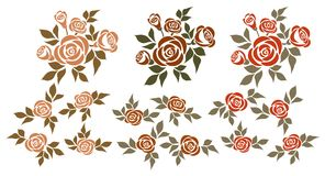 Ensemble de roses illustration stock