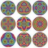 Ensemble de roues colorées Images stock