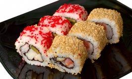 Ensemble de roulis de sushi photo libre de droits