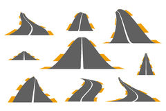 Ensemble de routes goudronnées Images stock