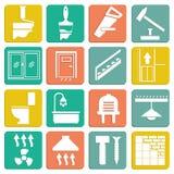 Ensemble de réparation plate d'icônes Photographie stock libre de droits