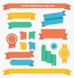 Ensemble de ruban et de labels Vecteur Photos stock