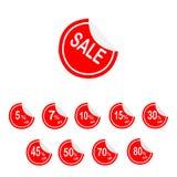 Ensemble de ruban de vente Images stock