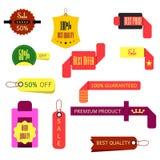 Ensemble de rubans, autocollants, labels Vecteur Ensemble de rubans, autocollant Photo stock