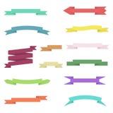 Ensemble de rubans colorés sur le fond blanc Photo stock