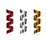 Ensemble de rubans en soie élégants avec l'ombre Vecteur illustration de vecteur