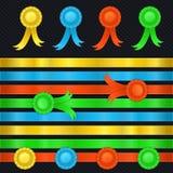 Ensemble de rubans, médailles Image stock
