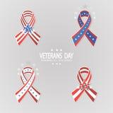 Ensemble de rubans pour le jour de vétérans Photo stock