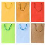 Ensemble de sacs à provisions Photo stock
