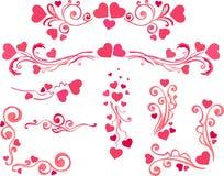 Ensemble de Saint-Valentin Image libre de droits