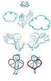 Ensemble de Saint Valentin de St Image libre de droits