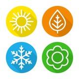 Ensemble de saisons d'icônes illustration stock