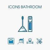Ensemble de salle de bains d'icônes Image libre de droits